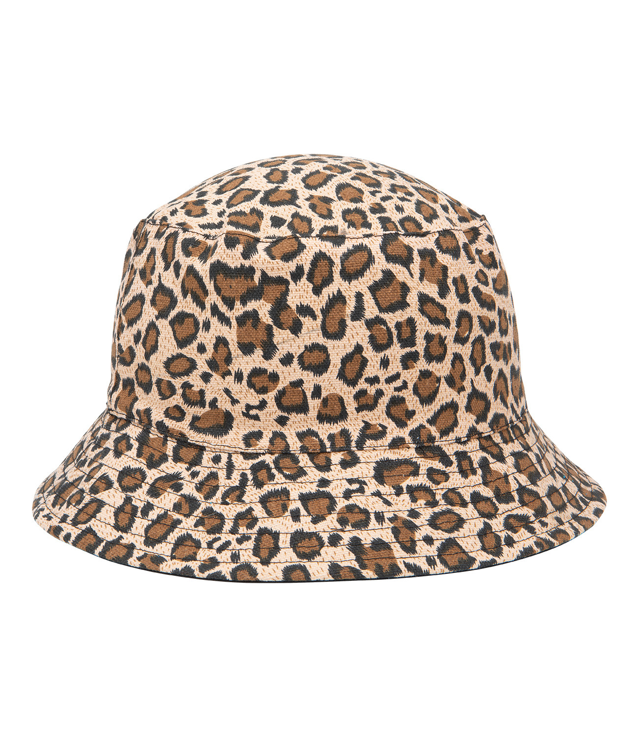 Bucket-Hat mit Leopardenmuster
